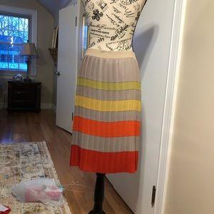 Bcbg maxazria color block silk skirt